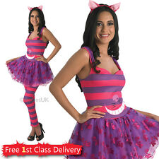Ladies Cheshire Cat Fancy Dress Costume Cat Disney Wonderland Hen Night Outfit