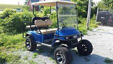 E-Z-GO Golf Car 4 Seat Lifted 36V Electric Golf Cart Aluminum Wheels