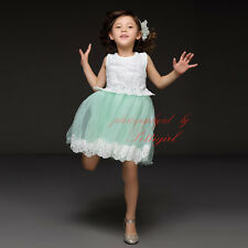 Baby Kids Girls Dresses Lace Costume Princess Pageant Party Dress Child Clothes