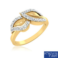 0.27Ct Certified White Round Cut Diamond Ring 14k Hallmarked Gold Jewellery