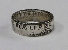"""Coin ring """"Handmade"""" from 500  LIRE ITALIAN COIN  in size 9-14 from Italy"""