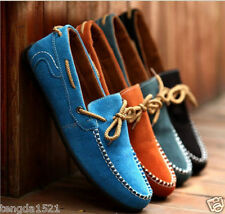 hot British Men's Suede Casual Lace Slip On Loafer Shoes Moccasins Driving Shoes