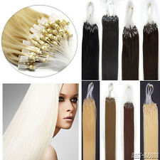 Easy Loop Micro Rings Bead Tip Remy Human Hair Extensions1g/s 100Gram Thick Hair