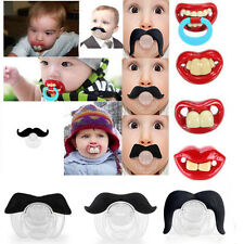 Baby Funny Dummy Prank Pacifier Novelty Teeth Children Child Soother Nipple d8
