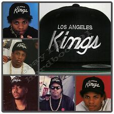 Vintage Replica LA Los Angeles Kings Script Cap Hat Snapback Black NWA EAZY E