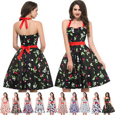 Vintage 1950s 60's Pinup Rockabilly Party Evening Swing FLORAL Housewife Dress