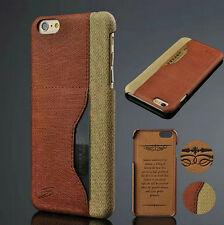 For iPhone 6 6 Plus Wallet Pu Leather Credit Card Holder Case Back Cover Fashion