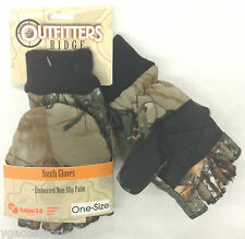 Camouflage Convertible Youth Gloves Mittens w/ Non Slip Gripper Palm NEW!