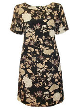 NEW ex-M & S  LOVELY FLORAL PRINT VISCOSE CREPE A-LINE DRESS- SIZE 10-20