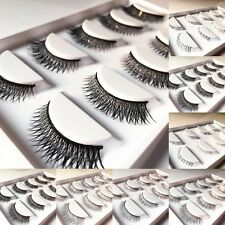 5 Pairs Long False Cross Eyelashes Makeup Natural Fake Black Eye Lashes 005e New