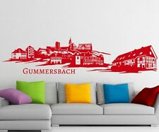 Skyline Wall Decal Gummersbach, Germany Lindenstadt sticker city 1M170