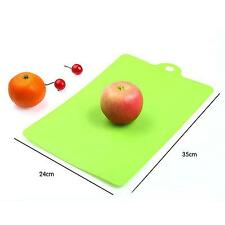 Colorful Kitchen Plastic Rectangle Flexible Cutting Mat Board Cut Chopping Block