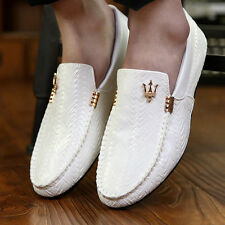 New Men's Leather Casual Slip On Loafer Shoes Moccasins Driving Shoes EX8