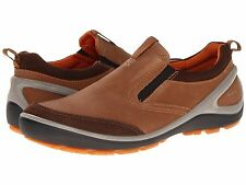 Ecco Biom Grip Creek Slip On Dark Clay Camel Leather 833114 $160 NIB 43 44 45