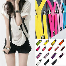 Men Womens Elastic Clip-on Solid Color Y-Shape Adjustable Braces Suspenders 001a