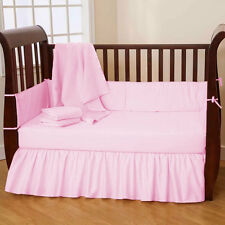 Baby Crib Bedding Set Fitted Pillowcase Skirt Bumper Comforter- 5PC Set