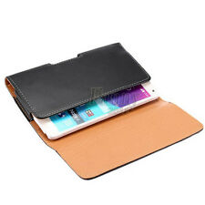 HORIZONTAL BLACK LEATHER CASE FOR LG G4 CARRYING POUCH BELT CLIP HOLSTER