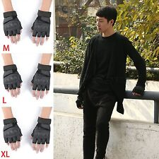 Tactical PU Military Combat Shooting Anti-slip Half Finger Gloves Airsoft Armed