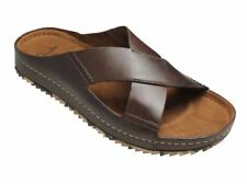 Clarks 26107051 Netrix Cross Brown Leather Sandal Casual Slipper Men's Size New