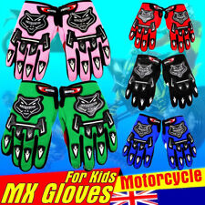 YOUTH PEEWEE MX MOTOCROSS MOTORBIKE RACING GLOVES BMX/ATV/QUAD/DIRT BIKE KID