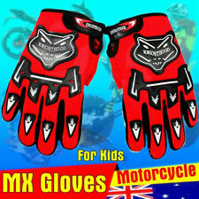 KIDS RED MX Glove Motocross Motorbike ATV Quad Dirt Pit Bike Racing Riding Glove