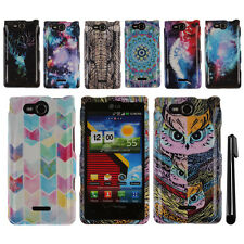 For LG Lucid 4G VS840 PATTERN HARD Snap On Case Phone Cover Accessory + Pen