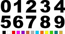 1x Set of Numbers 0 to 9 (4 inches tall) Vinyl Bumper Stickers Decals #a984