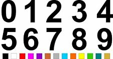 1x Set of Numbers 0 to 9 (5 inches tall) Vinyl Bumper Stickers Decals #a987