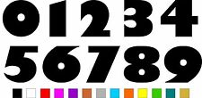 1x Set of Numbers 0 to 9 (5 inches tall) Vinyl Bumper Stickers Decals #a992