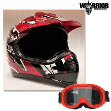 Youth Motocross Helmet - Kids Child, Red, XS S M L XL Aust Std, Dirt bike, Quad