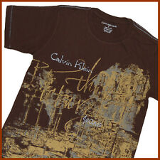CALVIN KLEIN Boys T-Shirt *Size:16* NEW Genuine Brand Top Sale BROWN Aussie Shop