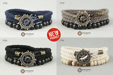 NEW!!! BRACELET WITH STEERING WHEEL SHIP MENS WOMENS WRISTBAND ANCHOR