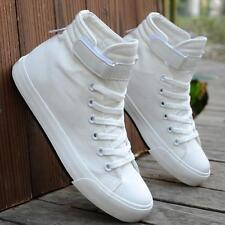 Womens Mens canvas fashion high top canvas casual sneakers shoes new