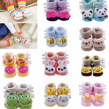3D Newborn Infant Toddler Baby Cotton Indoor Animal Socks Sandals Slipper Boots