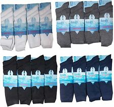 12 Pairs  BOYS GIRLS KIDS COTTON RICH SCHOOL SOCKS BLACK -NAVY-GREY-WHITE New