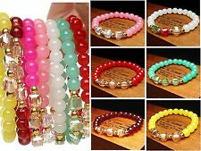 Women NEW Fashion Color Pearl Beads Bangle  Multilayer Jewellery  Bracelet ~