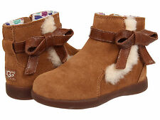 Toddler UGG Australia Libbie 1005151T Chestnut Suede 100% Authentic Brand New