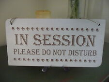 In Session Do Not Disturb Sign Wooden Shabby Door Plaque Home Office Privacy
