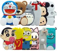 New3D Cute Animals Cartoon Soft Silicone Case Cover Back Skin For iPhone Various