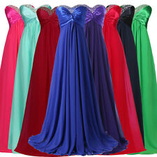 STOCK! Vintage Long Formal Evening Gown Wedding Party Prom Bridesmaid Ball Dress
