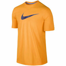 Nike Men's DriFit Orange/Blue Nike Swoosh Logo Training Shirt M-2XL Free Ship