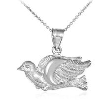 925 Silver Flying Dove Pendant Necklace