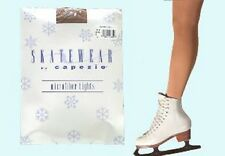 NEW Capezio Childs' Footed Skating Tights (1814C)  Suntan, Size Small
