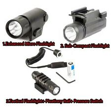 Tactical Micro/Sub/Compact FlashLight Strobe QD Pressure Switch Conceal Carry US