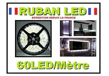 Ruban led blanc froid 60LEDs/m de 1 à 5 m, IP65 12v ou 220 v (+ alimentation )