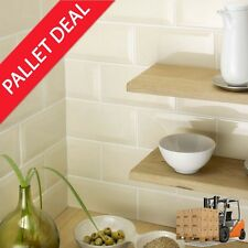 Pallet Deal Retro Metro Brick Ivory Gloss Ceramic 200x100x5mm Wall Tiles