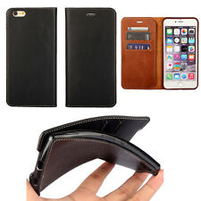 Luxury Magnetic Flip Cover Stand Wallet PU Leather Case For iPhone Samsung Sony