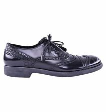 DOLCE & GABBANA RUNWAY Solid Patent Leather Shoes Black 03952