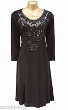 PRASLIN SIMPLY BE BLACK SEQUIN LACE EMBELLISHED PARTY DRESS NEW SIZE 16-26 FAB