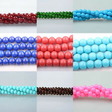 Stylish 50/100 Czech Glass 13 Colors Opaque Coated Pearl Round Beads DIY 6mm